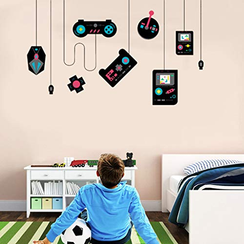 Game Wall Decals Gaming Controller Joystick Video Wall Stickers for Teen Boys Room Kids Bedroom...