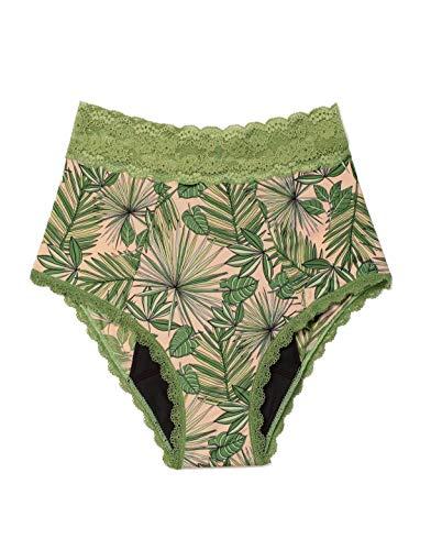 Adore Me Women's Amelia High Waisted Tropical Pink M Breezy Palms Regular Panty