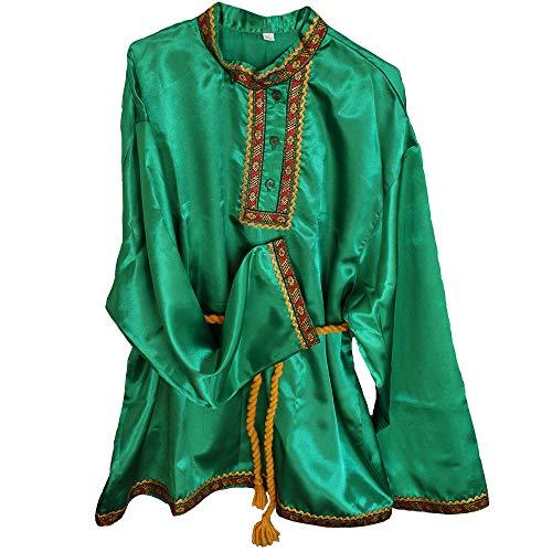 Russisches Hemd 'Kosakenhemd' Grün Größe XL