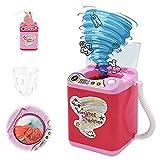 Aemiy Máquina de juguete de lavadora, baratos de maquillaje cepillo limpiador dispositivo multifuncional mini niños eléctrico lavadora de juguete de belleza esponja cepillos lavadora