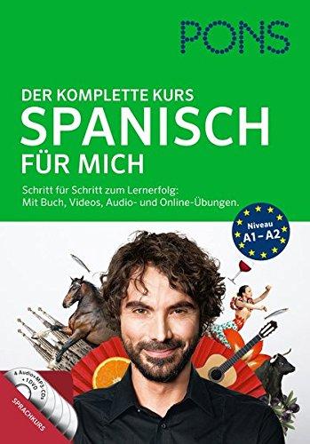 PONS Spanisch für mich: Der komplette Sprachkurs mit Buch, Videos, Audio- und Online-Übungen.