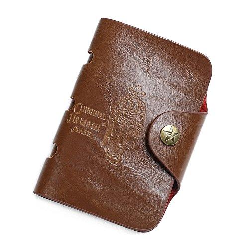 Sumferkyh Brieftasche Herren Cowboy Buckle Style Antik Echtleder Geldbörse Ledergeldbörse für...