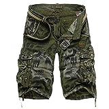 Pantalones Cortos De Verano para Hombre Camo Cargo Bermudas Pantalones Cortos Cómodo Outdoor De Verano Pantalones para Hombre Pantalones Cortos De Verano para Hombre Sin Pantalones Cortos De Carga