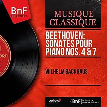 Beethoven: Sonates pour piano Nos. 4 & 7 (Mono Version)