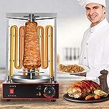 S SMAUTOP Kebab Machine, 3000w Grill Grill Machine Elettrico Girarrosto Verticale con impostazione della Temperatura 50-300 ° C, per Barbecue da Cucina