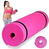 Esterilla de Fitness, Alfombra Yoga, Colchoneta de Gimnasia (Rosa, 180X51X1 cm)