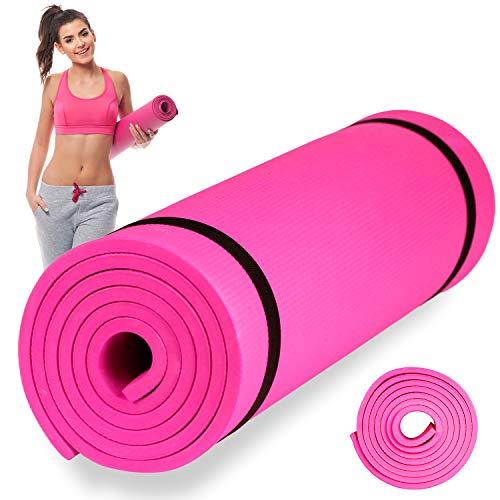 Esterilla de Fitness, Alfombra Yoga, Colchoneta de Gimnasia (Rosa, 170X60X0,3 cm)