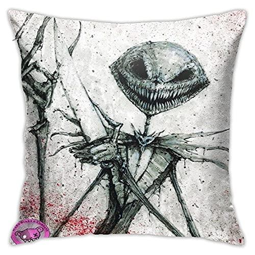 N  A Fundas de cojín decorativas, Jack Skellington y Sally Halloween Horror Movies La pesadilla antes de Navidad, suave cojín cuadrado para sofá, fundas de almohada de sofá Color_09