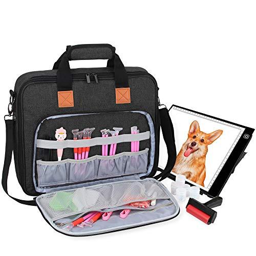 Luxja Tragetasche für A4 Licht Pad und Diamond Painting Werkzeug, Tasche für Diamant Malerei Leuchtkästen und Zubehör (Passend für A4 Licht Pad), Schwarz