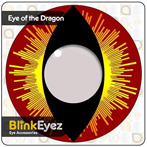 """'Blink eyez® Incredibile""""rossi occhi di gatto"""" lenti a contatto – Perfetto per costumi di Halloween, Carnevale, Feste e Costume. zero Power obiettivo uso quotidiano.""""Zombie"""" Il Giorno dei Morti"""" …"""