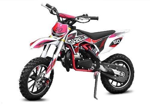 Nitro Motors Dirtbike 49cc Gazelle E-Start Edition Tuning Carburateur Cross Bike ATV Quad (groen)