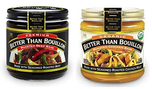 Better Than Bouillon Premium Roasted Beef Base, Organic Roasted Chicken Base 8 oz Jars (Pack of 2)