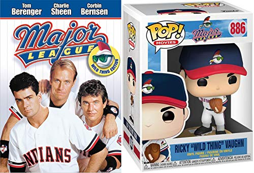 Wild Thing, Jobu, + All Of Cleveland Approved: Major League DVD + Funko Pop! Major League Ricky