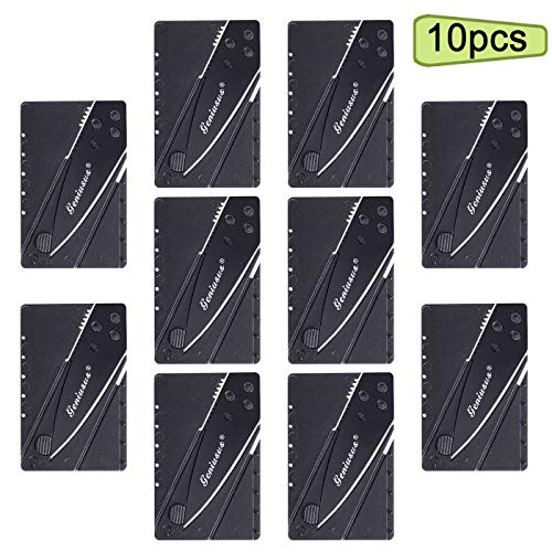 10pcs Credit Card Knife Pocket Friendly Knife Folding Blade Knife with Safety Locks for Camping, Cutting, Emergencies and Travel