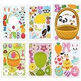 UFLF Pegatinas Scrapbooking, 24 Hojas Pegatinas Pascua Etiquetas Adhesivas Pegatinas Sticker para Creación Álbum DIY Manualidad Scrapbook