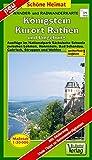 Radwander- und Wanderkarte Königstein, Kurort Rathen und Umgebung: Ausflüge im Nationalpark Sächsische Schweiz zwischen Lohmen, Hohnstein, Bad ... Struppen und Wehlen. 1:20000 (Schöne Heimat)