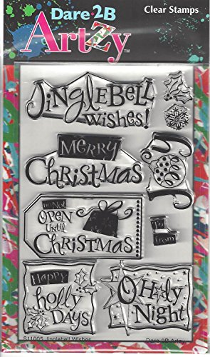 Dare 2B Artzy Jinglebell Wishes (S11005) Clear Cling Rubber Stamps