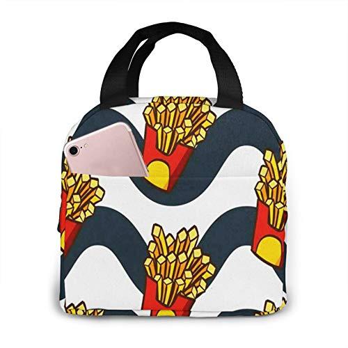 Bolsa Termica Comida Trabajo Almuerzo Porta Alimentos Infantil Niños Oficina Bolsa Calor Hombres Mujer Papas fritas