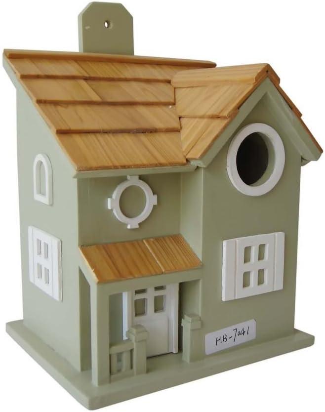 Home Bazaar Nestling Cottage Birdhouse, Sage Green