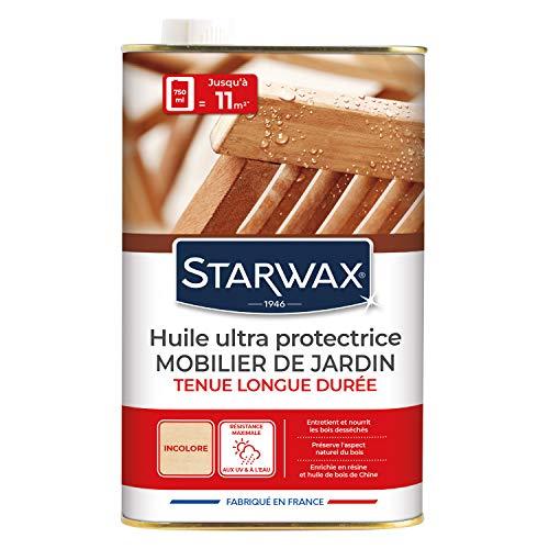 STARWAX 184 Huile Très Longue Protection pour Mobilier de Jardin en Teck et Bois Exotique, Multicolore, 750ml