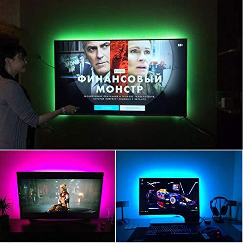 MALITAI Tira LED TV 2M, 2835SMD con Control Remoto, 24 botones RGB 4 Modos, Retroiluminación LED TV para Cine en Casa, HDTV/PC Monitor (40-60 Pulgadas)[Clase de eficiencia energética A++]