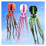 PINGPUNG Cometa Pulpo Grande Kite Suave para Adultos Reel Nylon Juguetes al Aire Libre de los Juguetes voladores de la Medusa de Las Medusas de la línea de Cometa fábrica (Color : 20m)
