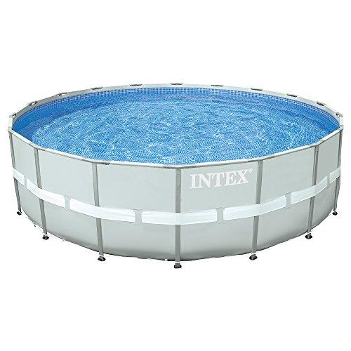 INTEX Kit piscine tubulaire Ultra Frame ronde 5,49 x 1,32 m