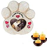 Meiyaa - Pietra commemorativa da Giardino, con Impronta di Zampa, per la Perdita di Animali Domestici, Idea Regalo per Cani e Gatti