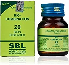 SBL Homeopathic Bio Combination 20 (25g), for Skin Diseases, Acne, Eczema, Psoriasis, Cracks