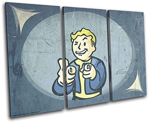 Bold Bloc Design - Fallout 4 Pip Boy Gaming 150x100cm Treble Leinwand Kunstdruck Box gerahmte Bild Wand hangen - handgefertigt In Grossbritannien - gerahmt und bereit zum Aufhangen - Canvas Art Print