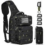 Monoki Tactical Sling Backpack, Military Rover Shoulder Sling Bag Pack, Molle Assault Range Bag Day Pack