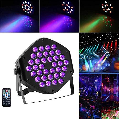 U`King UV 36 LEDs mit Fernbedienung und DMX Steuerung für DJ Disco Hochzeit Bühnenbeleuchtung
