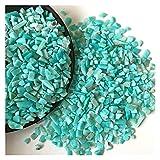 YSDSPTG Piedras Naturales 2 Tamaños 50g Natural Azul Verde Amazonita Piedra Cristal Roca áspera Minalería Piedra para acuarios Decoración del hogar Material T202 (Size : 5 7mm)
