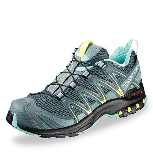Salomon XA Pro 3D W Zapatillas de trail running Mujer, Multicolor (Stormy Weather/Lead/Eggshell Blue), 38 EU (5 UK)