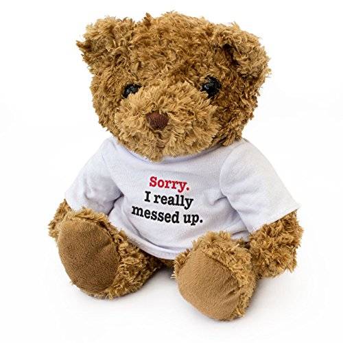 London Teddy Bears QS-XC95-I7M8 Sorry I Really Messed Up, Braun