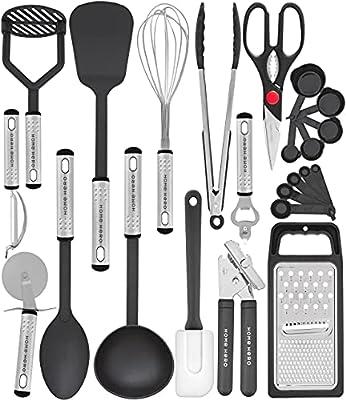 Home Hero Kitchen Utensil Set - 23 Nylon Cooking Utensils - Kitchen Utensils with Spatula - Kitchen Gadgets Cookware Set - Best Kitchen Tool Set from Home Hero