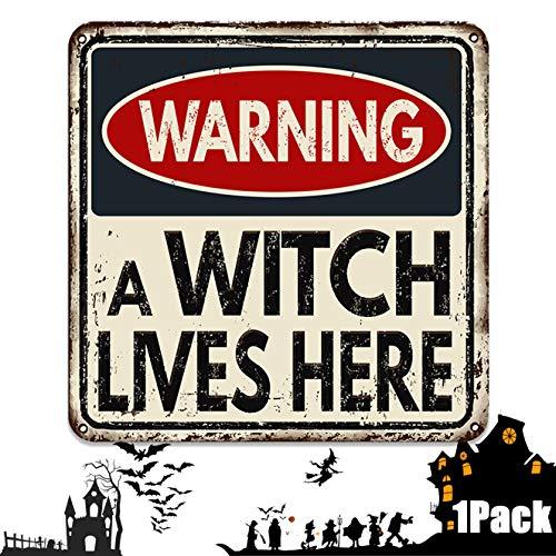 Bimkole Decoración De Halloween, Carteles De Advertencia Para Fiestas De Terror, Brujas, Para Patio Decoración De Fiestas Temáticas, 30 X 30 Cm