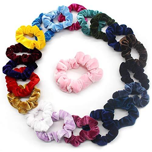 20Pack Chouchous Cheveux Velours Bandes De Cheveux Élastiques Gros pour Femme Fille Par Rameng