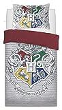 SELECT-ED - Juego de funda de edredón y funda de almohada reversibles para niños, diseño de superhéroes Harry Potter Witchcraft Talla:individual