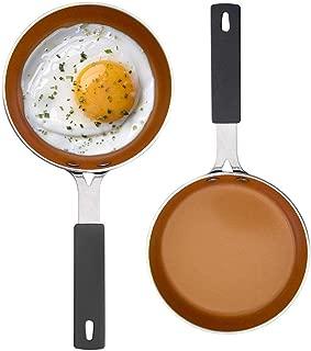 "Gotham Steel Mini Egg and Omelet Pan with Nonstick Titanium & Ceramic Coating – 5.5"", Copper - 2 PACK"