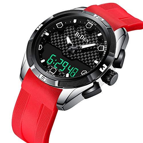 SW Watches Biden Digitaluhren Männer Sport Wasserdicht LCD Armbanduhren Doppelte Zonenzeit Rennende Elektronische Uhr