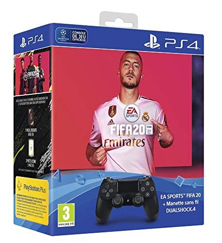 Dual Shock 4 V2 + FIFA 20 + FUT voucher + PS Plus 14 Jours - noir