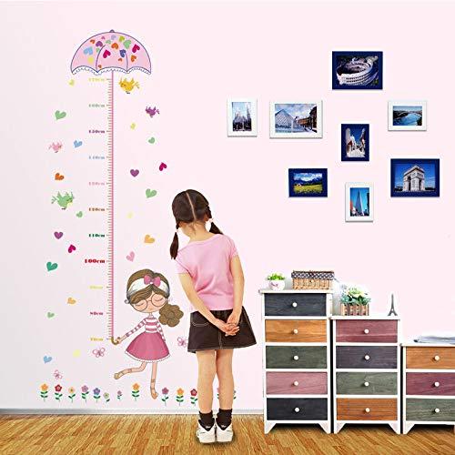Regenschirm Mädchen Höhe Aufkleber Kinderzimmer Dekoration Kinderzimmer Wandhöhe Aufkleber Cartoon Wandaufkleber