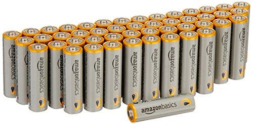 Panasonic RF-P150DEG-S Taschenradio mit Trageriemen, Batteriebetrieb Silber & Amazon Basics Performance Batterien Alkali, AA, 48 Stück (Design kann von Darstellung abweichen)