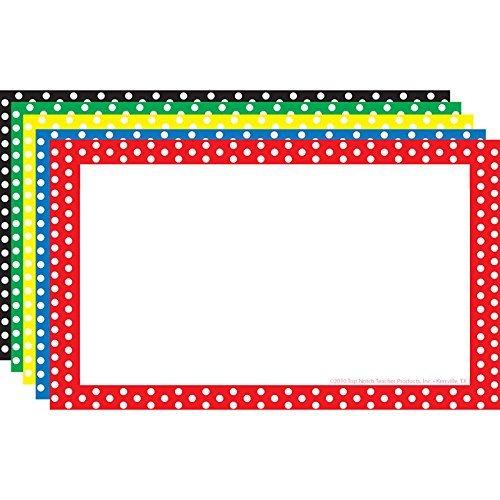 TOP NOTCH TEACHER PRODUCTS BORDER INDEX CARDS 3X5 POLKA DOT (Set of 6)