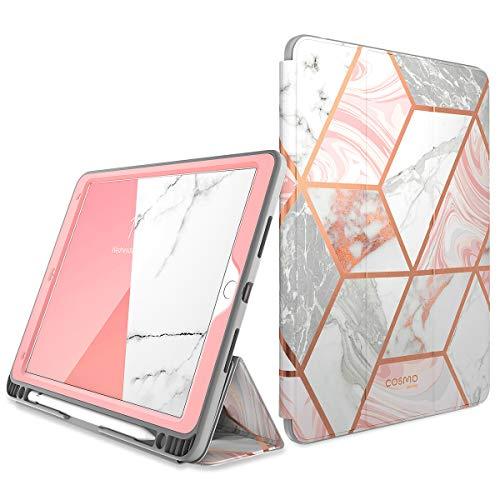 i-Blason Funda iPad Air 3 10.5 2019 [Cosmo] Carcasa Protector de Pantalla Incorporado y Soporte Triple, Cubierta con Reposo Automático Despertar con Apple Portalápiz [Apple lápiz no Incluido]