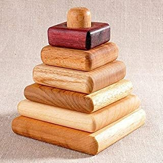 Square Stacking Toy,Wooden Toy, Natural Toy