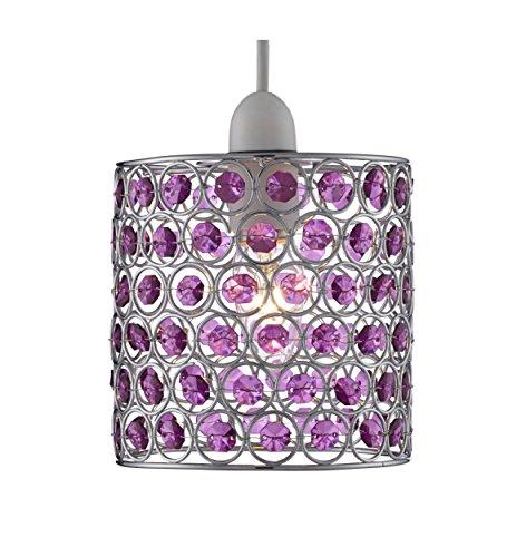 Lighting Collection 700047 Suspension non électrifiée Chromé/violet 60 W