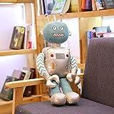 zcm Juguete de Peluche 40 Cm Robot Plush Toys Cartoon Stuffed Knitted Toy Soft Muñecas Robot Bien Hechas para Niño Niño Regalo De Cumpleaños