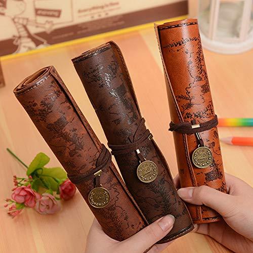 Weimay 1 Pcs PU Leather Pencil Case Travel Drawing Porta Lápices Más Adecuado para Escritores Artistas y Estudiantes Extra Large
